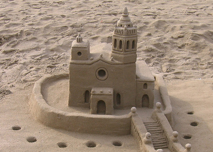 Simple Sand Castle Sand or concrete: more on