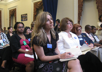 Women at the Women's Health Townhall at the White House