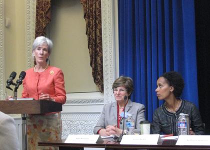 Kathleen Sebelius at the Women's Health Townhall