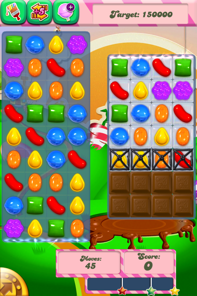 Level 70 of Candy Crush…
